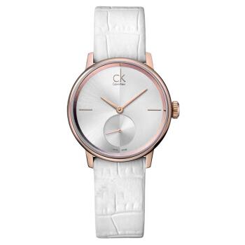 CK卡文クレイ腕時計ACECMシリーズの女性時計の簡約時の針の独立秒盤クリルツー表K 2 Y 23 K 6