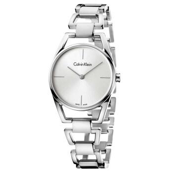 CKカルバンクライン腕時計DAINTYシリーズシンプルな銀色の文字盤K 7 L 23146