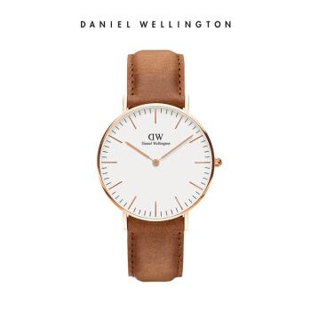 丹尼尔惠灵顿 (DanielWellington )手表DW女表36mm金色边皮带超薄女士クォーツ手表DW00100111