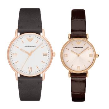 アニマニ(EmporリオARmani)腕時計カップル1対バレンタインプレゼントファッション男女腕時計バラ金ベルトセットAR110 11 / AR1911