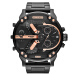 全世界購入デサイ/ DorsL男腕時計男大文字盤クリアー男子時計ファッショントレンド腕時計DZ 7395黒色鋼帯