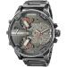 世界で買ったデサイ/DIESEL男性腕時計の男性大文字盤クウォーク男性のファッション腕時計DZ 7395灰色のスチールバンド