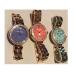 COAROVSツバサワッフル腕時計さんファッションリストピンク銀50 95600