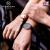 VICTORIA HYDEカップルのファッションモデル腕時計時計バンド学生男女カップルだ·ツー于表シンプル防水白盘/ブラック