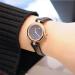 グッチグチ女子時計ファッションカジュアルクブラック牛皮の表バンドバラゴールドステンレスケースYA141501 YA141501/27 mm