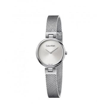 カルバンクライク腕時計authenticシリーズ銀の文字盤シルバーミラノ風のバンドファッションの極简女性モデルK 8 G 23126