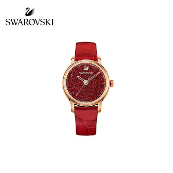 【ブランド公式直営】スワロフスキーCRYSTALLINE HOURS輝く赤い女性用腕時計5295380
