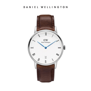 ダニエル・ウェリントンファッション腕時計DW女性時計34 mm銀色のサイドベルトの超薄型女性くるみ腕時計カレンダー付きDW 0010098