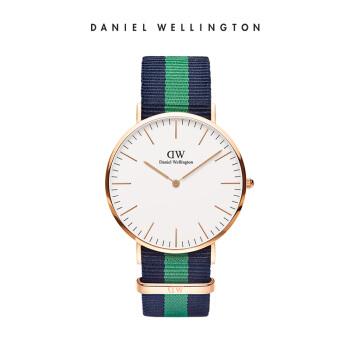 ダニエルウェリントン腕時計DW男性用時計40 mm金色辺のナイロンバンドの超薄男性クウォーツ腕時計0105 DW(DW 0010005)