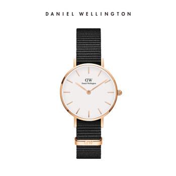 ダニエルウェリントンDW女性時計金色辺ナイロンバンド28 mmホワイトディスク欧米シンプルスタイル学生腕時計DW 00100251