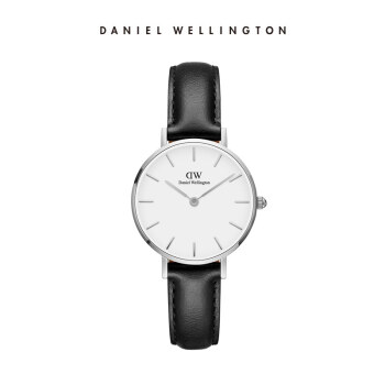 ダニエル・ウェリントン(DanielWellington)DW女子時計銀色のサイドレザーバンド28 mmホワイトディスク欧米シンプルスタイル学生用腕時計ファッションクウォークウォッチDW 00100242
