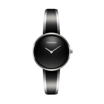 カルバンクライク(Calvin Klein)腕時計seduceシリーズ黒の文字盤亮面316 L鋼の腕時計の黒のブレスレットスタイルのファッション女性モデルクウォーク表K 4 E 2 N 111