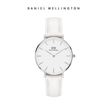 【DWフラッグシップショップ】Danielwellington腕時計女性dw女性腕時計32 mm純白ベルト女性腕時計dw女性腕時計シルバーエッジホワイトディスクDW 00190