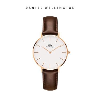 【DWブランド専売】DW腕時計女性ダニエルウェリントンスイス輸入ファッション女性ベルト腕時計学生腕時計32 mmゴールドエッジホワイトディスクDW 0010001