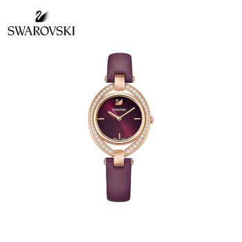 【ブランド公式直営】スワロフスキーSTLLA腕時計、本革ベルトワインレッド5376839
