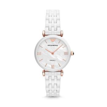 アルマニル腕時計皮質の時計バンドファッションカジュアル簡単クウォーツ女史腕時計AR 1486陶磁器