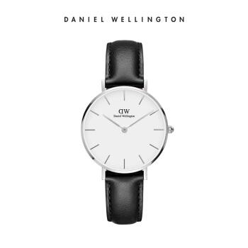 ダニエルウェリントンDanielWellington DW女性時計32 mm銀色のサイドホワイトベルト女性腕時計DW 001000086