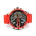 世界で買ったデサイDIESEL男性時計大文字盤の覇気腕時計男性の個性腕時計DZ 7395黒盤赤シリコンテープ