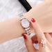 アルマニートアーム時計母貝ミニ時計ファッショントレンドスチールベルト女性腕時計カジュアルレディースクウォーク腕時計AR 1764