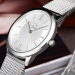 CKカルバンクライン腕時計MINIMALシリーズカップル表白盤ミラノ編みスチールバンドクウォーク時計K 3 M 2126