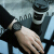 アルマテニル腕時計(Armani Exchange)男性用時計クウォークレザーバンド黒の文字盤カジュアルファッションAX 098