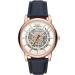 アルマニル腕時計男性機械表ビジネス男性ファッション腕時計機械表透かしベルト腕時計機械腕時計AR 6009