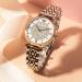 オールマイニ天星腕時計スチールバンドカジュアル女子時計クウォーカー女性腕時計ピアス礼装箱セットAR 80035