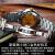 男性用腕時計2020新型スイス腕時計男性用機械時計全自動防水夜光ダブルカレンダー男性用腕時計ゴールドシェルゴールド面プレゼントボックス+皮時計