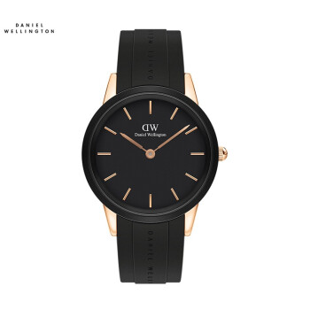 ダニエル・ウェリントン(DanielWellington)の張芸興さんは同じDW腕時計の男性用時計の新品のゴムバンド40 mmの黒いディスクDW 00100412を表します。