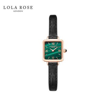 Lola Roseミニ緑時計女性イギリスファッション防水クウォーツ女性腕時計正版天然クソルトスクエア